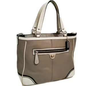COACH Laura Spectator Taupe Leather Tote Bag